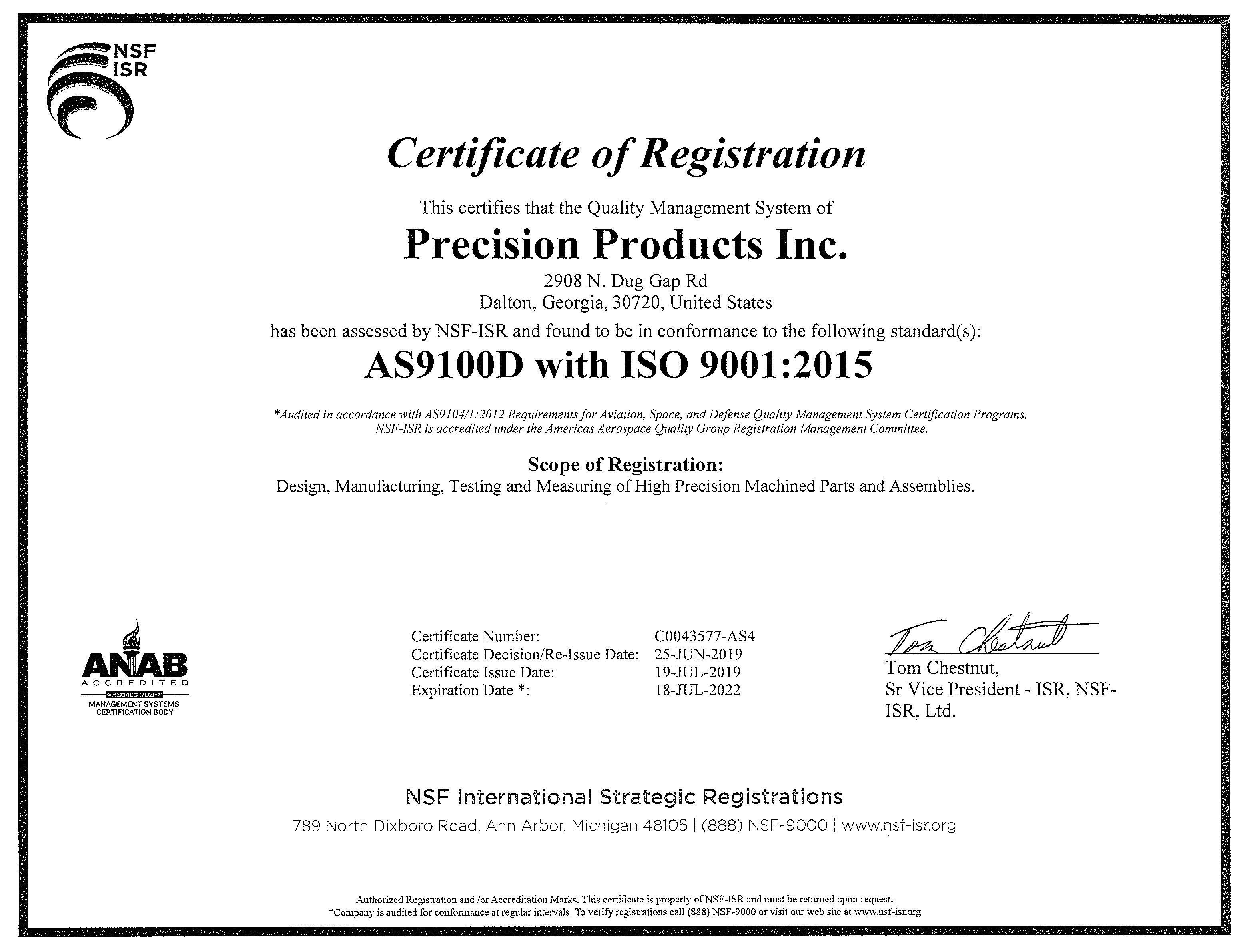 C0043577-AS3-Certification